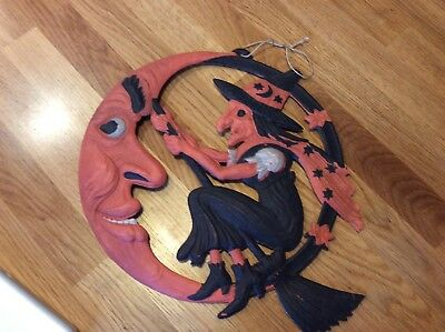 Vintage German diecut Halloween decoration 1920-1930s. Excellent condition.