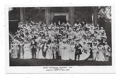 Real Photographic Postcard Bath Somerset Historical Pageant Times Of Beau Nash