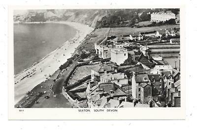 Superb Real Photographic Aerial View  Postcard Of Seaton Devon