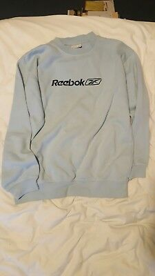 Retro Vintage Reebok Baby/Light Blue Sweater Jumper JXL