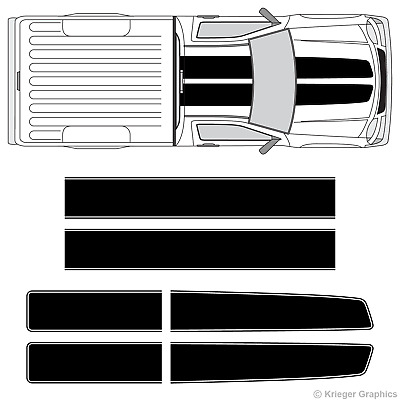 Chevy Colorado & Canyon EZ Rally Racing Stripes 3M Vinyl Stripe Decals Graphics