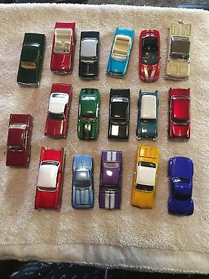 Various  vintage CHEVY Cars  Lot of 17 Loose Mint 1;64 Scale Cars
