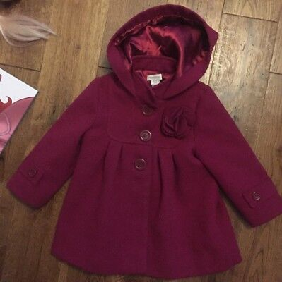 MONSOON BABY GIRL 18 - 24 months AGE 1- 2 year Coat Jacket Lined Winter & HOOD