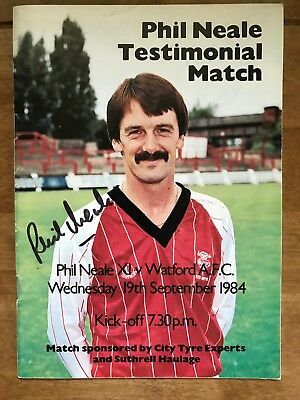 Phil Neale, Lincoln City FC, Signed Testimonial Programme