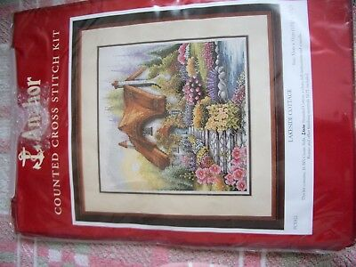 cross stitch anchor LAKESIDE COTTAGE . COUNTED CROSS STITCH