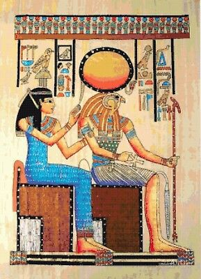 Horus and Queen B/W Cross Stitch Chart