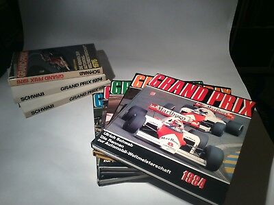 Formula 1 Yearbook - German - Combined Lot Of 8 Books