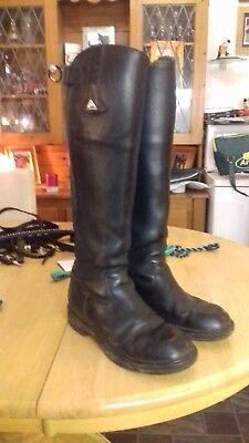 mountain horse mens long leather riding boots size 10 wide calf