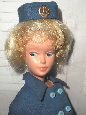 Vintage RARE AC AMERICAN AIRLINES MARY MAKEUP Clone 2 TONE PLATINUM HAIR DOLL