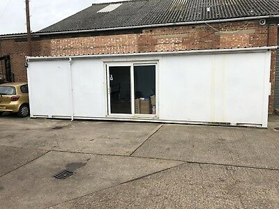 32ft x 10ft Sales Office Portacabin with separate kitchen and toilet