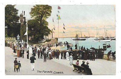 Nice Animated Printed Postcard Of The Parade Cowes Isle-Of-Wight Posted 1905