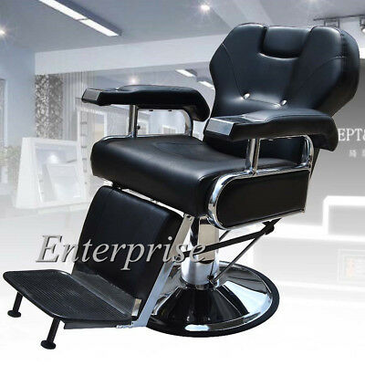Barber Chair Salon Hydraulic Reclining Hairdressing Tattoo Threading Shaving #6
