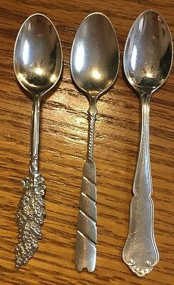 3 Assorted Sterling Silver Spoons (S21)