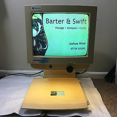 Aladdin Rainbow RB-1 telesensory desktop enlarger - working - great 1990s prop