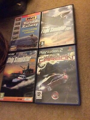Job Lot Of Pc And Ps2 Games