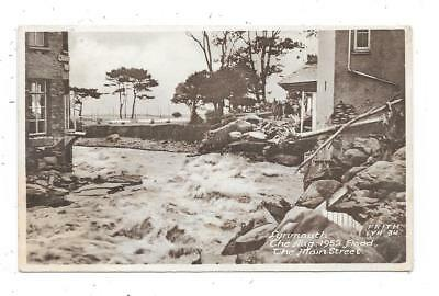 Nice Printed Postcard Of Flood In Main Street Lynmouth Devon 1953