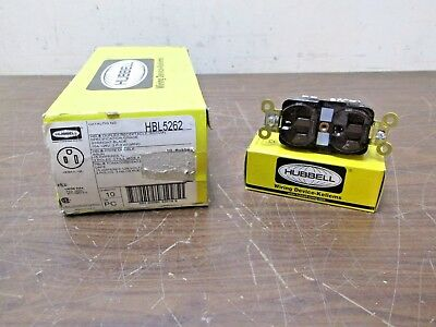 Lot of 10 Hubbell HBL5262 Specification Grade Duplex Receptacle 2P 3W 15A Brown