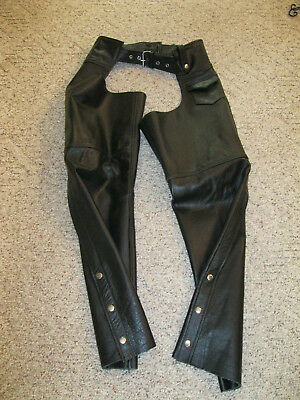 BRACKNEY Leather Women's Size Small Motorcycle Riding Chaps
