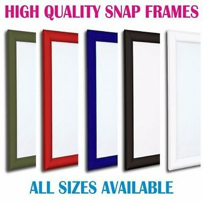 Colour Snap Frames Poster Clip Holders Displays Retail Notice Board All Sizes