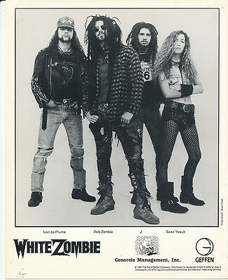 White Zombie RARE black & white 8x10 publicity photo '92 (Geffen Records)