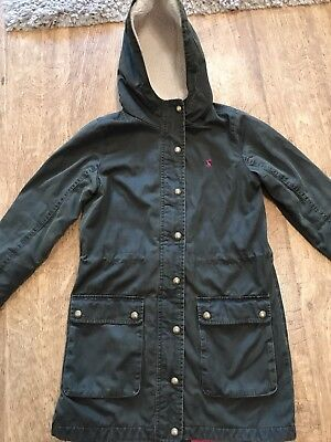 Genuine Joules Girls Waxed Jacket Age 9 - 10