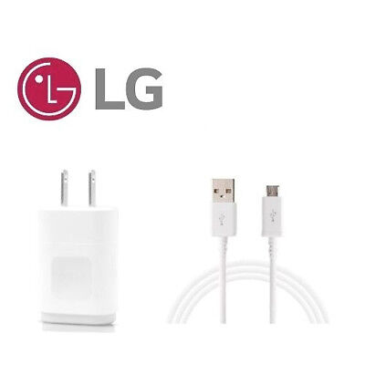 ORIGINAL OEM LG WALL HOME CHARGER + MICRO USB CABLE FOR LG V10 G3 G4 G Stylo
