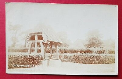 Lychgate And Schools, Brighstone, Isle Of Wight, Real Photographic, Pre-1914