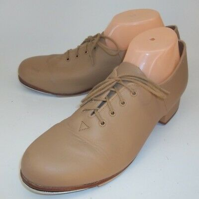 Bloch Womens Shoes Oxfords US 11 Tan Leather Lace-Up Tap Dance Techno Tap
