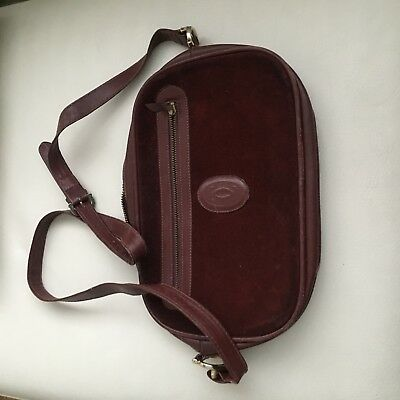 cartier sac en cuir bordeaux vintage authentique
