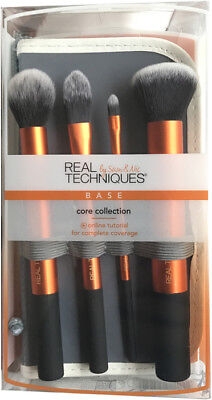 Real Techniques Core Collection Starter 4 Brush Kit Professional Brushes set NEW