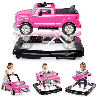 Baby Multi Mode Activity Walker Ford F-150 3 Ways To Play Girls Toddler Pink New