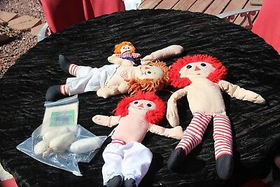 Lot Of 4 Raggedy Ann Dolls In Construction