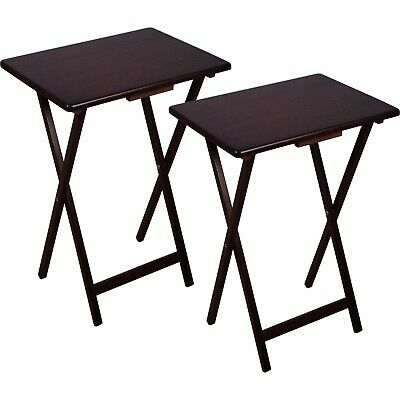 5 Piece Tv Tray Table Set Dinner Game Folding Snack Solid