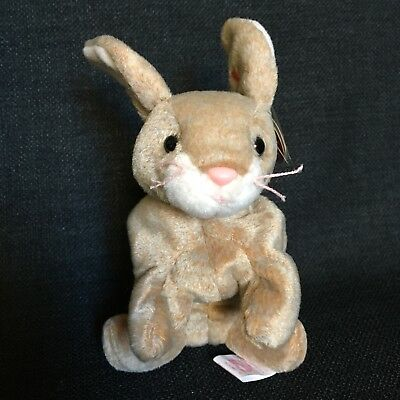 Ty Beanie Baby 1999 Nibbly Brown Bunny Rabbit Gasport ERROR Easter Spring Plush