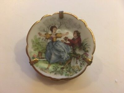 Fab Vintage Hand Painted Limoges Plate Pin
