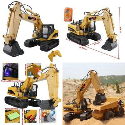 Excavator Remote Control RC Tractor Crawler Truck Toy Digger Car 15CH Xmas Gift