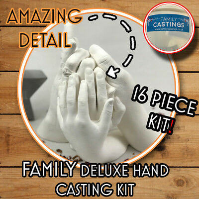 Family Hand Casting Deluxe Kit Alginate Plaster Kits Hand Mould Mold