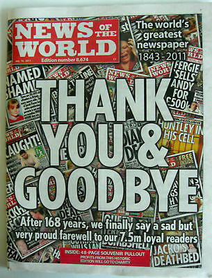 News Of The World Last Final Issue Edition 10 July 2011 - Withe Sealed Magazine