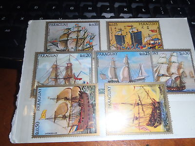 Paraguay 7 stamps. 10. 15, 20, 25, 30, 50, 75. Ships.