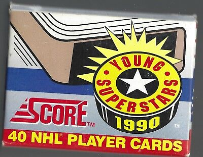 1990-91 Score Young Superstars Complete Boxed Set 1 - 40 Hockey