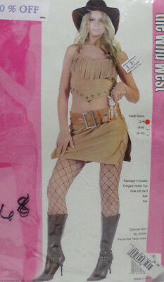 Cowgirl Halloween Costume Adult Womens Size Small 2-4 by the Wild West Costume