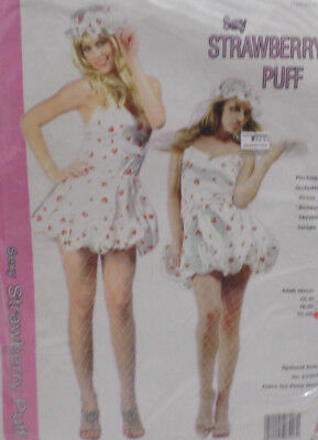 Strawberry Puff Halloween Costume Adult Womens Size 8-10 by RG Costumes & Access