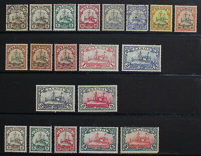 Germany Colonies, Samoa, 1900-1919, Mint & Used Stamps, High CV #a2025