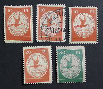 Germany, Reich, 1912, Airmail,  Lot of int & Used Stamps, High CV #a2004