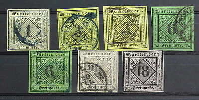 Germany, wurttemberg, Lot of Used Stamps #a1957