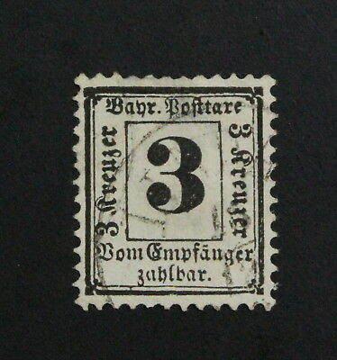 Germany, Bayern, Postage Due, Mi. 2x,  Used Stamps #a1956