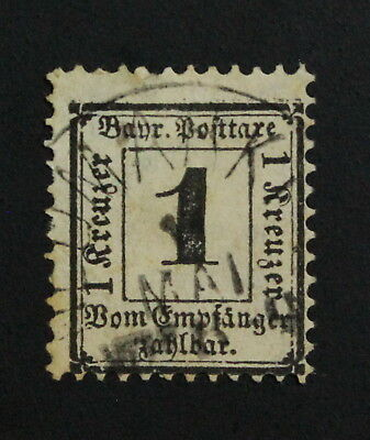 Germany, Bayern, Postage Due, Mi. 1x,  Used Stamps #a1955