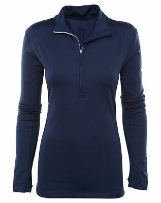 Nike Pro Hyperwarm Womens 803120 Mid Navy Dri-Fit Training Top Jacket Small $70