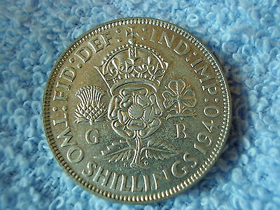 King George VI Silver Florin/Two Shillings - 1940 UNC Grade