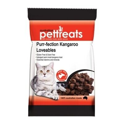 Purr-fection Kangaroo Lovables Semi-Moist Australian Cat Treats - 80g